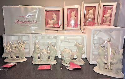 9 Snowbunnies Springtime Series in Boxes  EXCELLENT * RETIRED