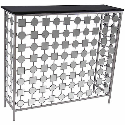 """""""Bliss"""" Collection Console Table in Antique Silver by !nspire 502-344"""