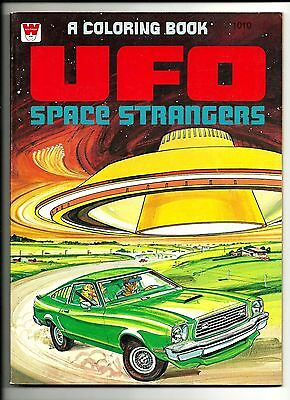 1970s Whitman UFO Space Strangers Coloring Book Brand New Unused