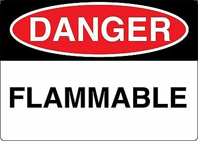 """Danger Flammable Decal 7"""" x 10"""" Made in USA! Made to Last!"""