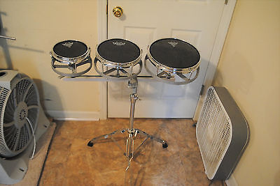Used Rototom Roto Tom 6 8 10 Set With Stand With Used Remo Heads Free Ship 48