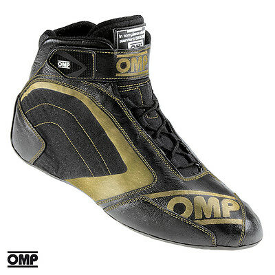 CLEARANCE OMP One Evo Formula Race/Rally Boots in Black/Gold size 44 UK 9 1/2