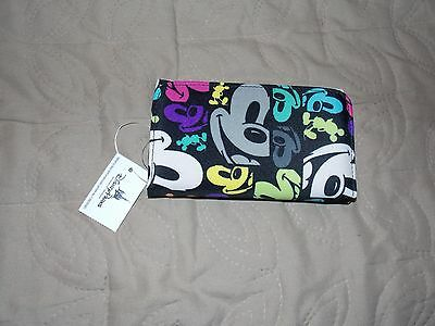 Disney Parks Mickey Mouse Pop Art Faces Coin Folding Clutch Wallet  - NEW