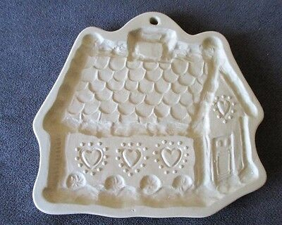 Brown Bag Cookie Art Gingerbread House Hearts Shortbread Mold Cutter 1985 VTG