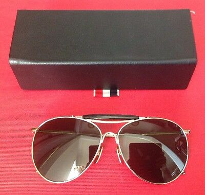 82589a77985 Thom Browne Unisex  995 Gold   Green Aviator Sunglasses Used In Box Japan
