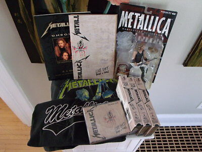 Metallica Band Fan Bundle: Shirts, Book, Figurine, Live Sh*t: Binge & Purge.