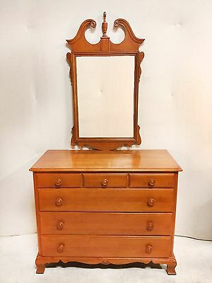Antique Federal Style 6 Drawer Maple Dresser and Mirror $350
