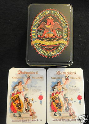 Anheuser Busch Brewing Assn. St Louis -Playing Cards, Collectible Tin, SEALED