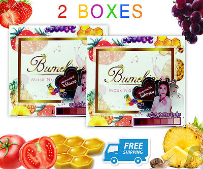 2 Bars X Mask Natural Soap Bumebime Brightening With Fruit&snail Extract 100 G.