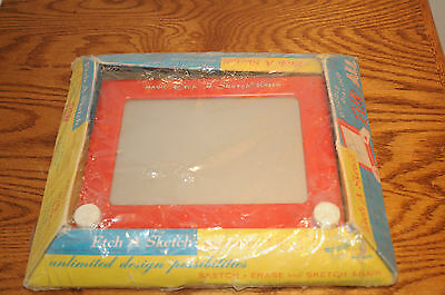 1960 The Amazing Etch A Sketch Works With Original Box Used Condition No. 505