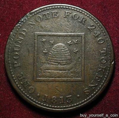 Bilston Staffordshire James Atherton penny token 1813 Beehive - Withers 33