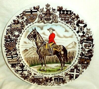 RCMP Royal Canadian Mounted Police Collector Plate Wood & Sons