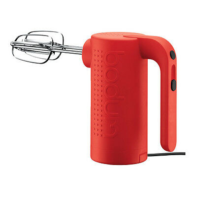 BODUM BISTRO Electric Hand Mixer Red NEW Model 11532294US