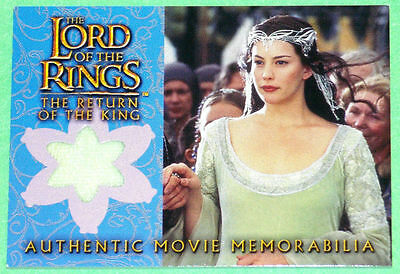 LORD OF THE RINGS - ROTK UPDATE - ARWEN'S CORONATION DRESS INSERT - BV$40 - NrMt