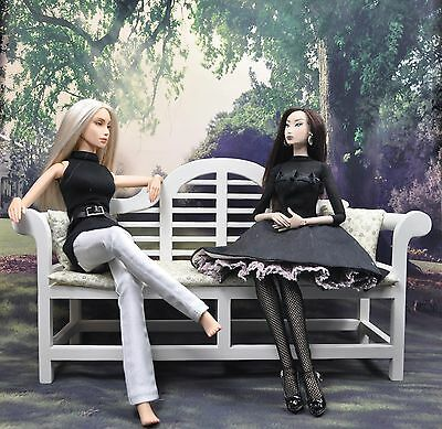 ORIENTAL BENCH for SYBARITE FURNITURE FASHION DOLL AGENCY Doll 1:16  TONNER GENE