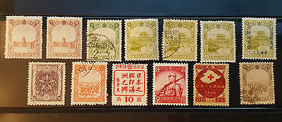 Manchukuo Stamp Lot Collection (Mint Used Overprint)