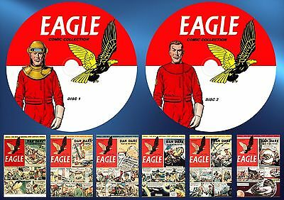 EAGLE COMICS v1-v6 + ANNUALS ON TWO PRINTED DVD ROM'S