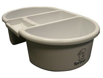 Tippitoes Baby Nappy Changing Bathing Cleaning Top and Tail Bowl 3 Compartments
