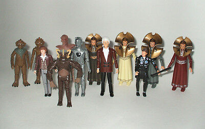 Doctor Who Rare Vintage Lot Of Dapol Figures Cyberman Tom Baker Jon Pertwee!
