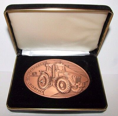 John Deere 7720 Tractor 2005 Belt Buckle Contemporary Legend 1st Series COPPER
