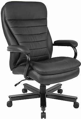 Big and Tall Executive Office Chair for Heavy Duty Big Man Black Leather or l...