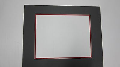 Picture Framing Mat 20x24 For 16x20 Photo Pewter Gray With Red