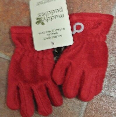 New Muddy Puddles  girls gloves Red 3 years