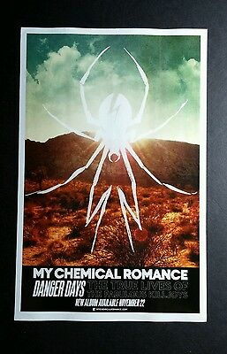 MY CHEMICAL ROMANCE DANGER DAYS DBL SIDED PHOTO 5.5x8.5 MUSIC PROMO POSTER FLYER