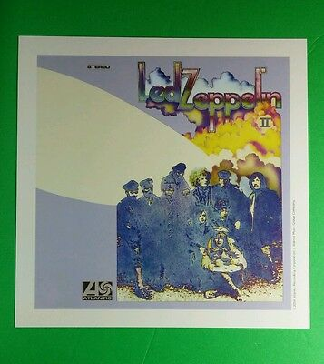 LED ZEPPELIN 2 II WATERCOLOR STYLE PRINT SQUARE MINI POSTER 8x8 MUSIC LITHOGRAPH
