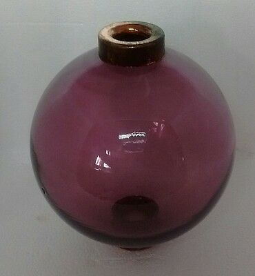 Amethyst Glass Lightning Rod Ball Roof Home Cabin Decor