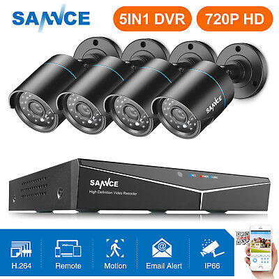 SANNCE 5in1 HD 1080N Video 8CH DVR 720P IR Outdoor Home Security Camera System