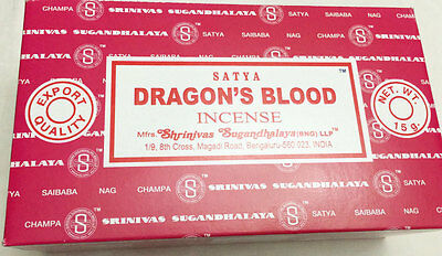 Genuine Satya Sai Baba (Dragons Blood) Incense Sticks Agarbatti Pack of 12