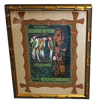 "Disneyland's, ""enchanted Tiki Room"" Frame Tiki Bamboo"