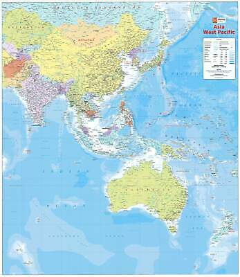 Asia West Pacific Hema 1000 x 875mm Laminated Wall Map