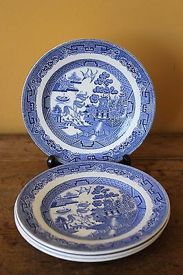 Vintage 1930's, Blue Willow side plates x 4. Mintons.
