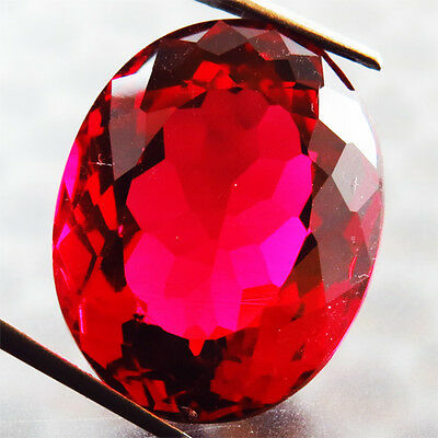 19.50 Ct Rare Awesome! Pigeon Blood Red Ruby Oval  Gem