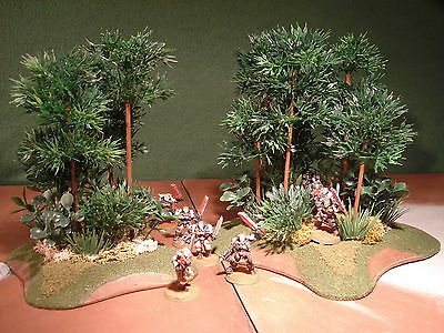Wargame Terrain Spiney Trees x2 - 12cm and 18cm Bases Tactical Terrain (1B6F)