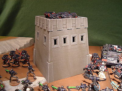 Wargame Terrain - Imperial Fuel Tank Towers X3 - Tactical Tabletop Model (A,B)
