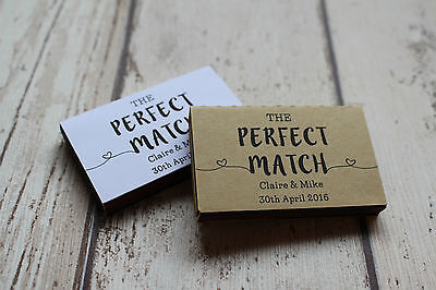 Personalised Matchbox Wedding Favours includes matches The Perfect Match
