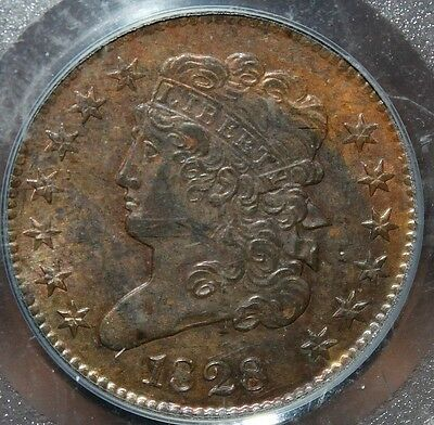#~☆WOW☆~ MS-62 1828 Classic Head Half Cent 13 stars PCGS CHEAPEST one on Ebay