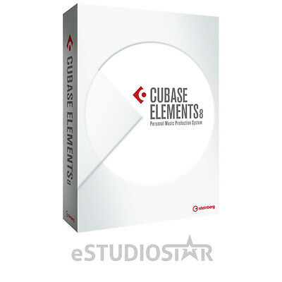 Steinberg 45560 Cubase Elements 8-Personal Music Production Software NEW