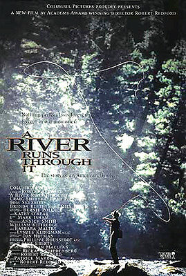 A River Runs Through It (1992) movie poster reproduction single-sided rolled