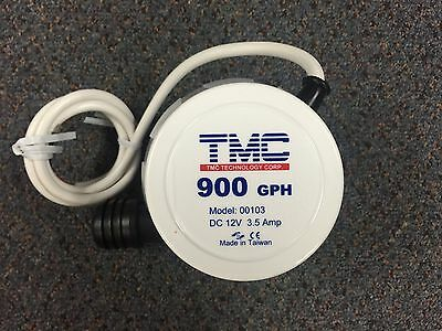 New TMC Bilge Pump Compact 900GPH 56 LPM 12 Volt BLA 131592 25mm Outlet 00103