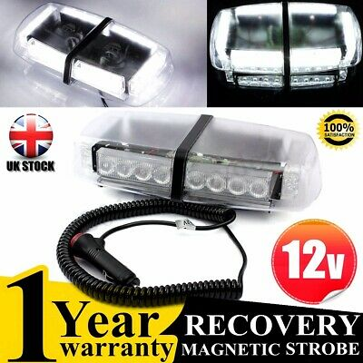Amber 24Led Light Recovery Strobe Flash Emergency Bar Magnetic Beacon Lamp 12V