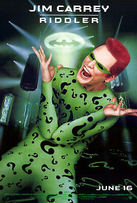 Batman Forever (1995) original movie poster advance s-sided rolled (Jim Carrey)