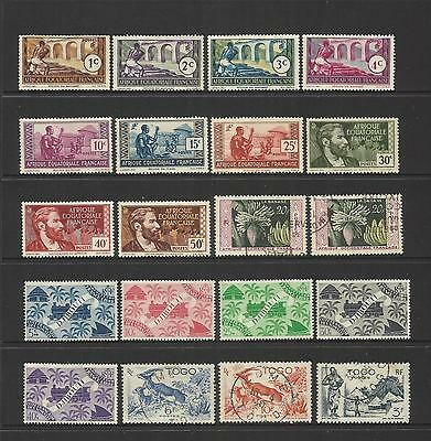 FRENCH AFRICA COLONIES ~ 1940s  SMALL COLLECTION