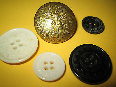 ww2 buttons  lot of 6 germany rare !