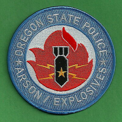 Oregon State Police Arson Bomb Unit Patch
