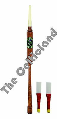 Scottish Practice Chanter Rose Wood Highland Bagpipes By The Celticland