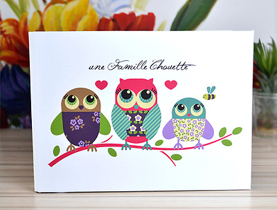 DIY 25 Pages 2-Ring Binder OWL Scrapbook Album Wedding Guest Book Baby Show